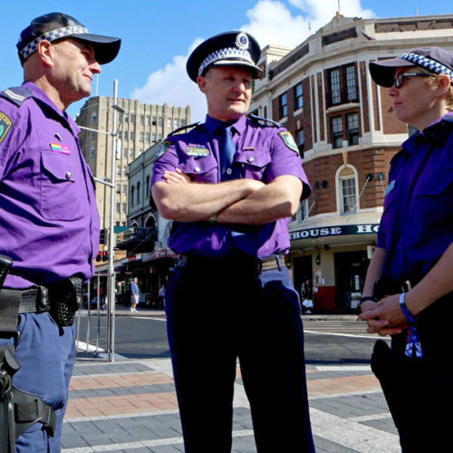 Police celebrate diversity on 'Wear it Purple' day