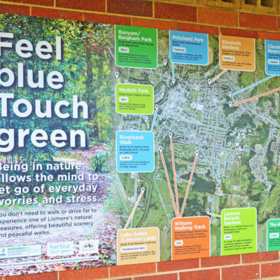 Feel Blue Touch Green signage final