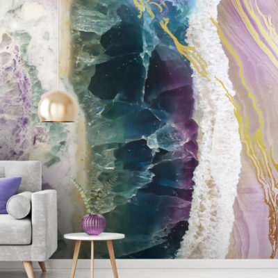'Rock Pool Beach' Mural by Lara Skinner at Wallsauce.com