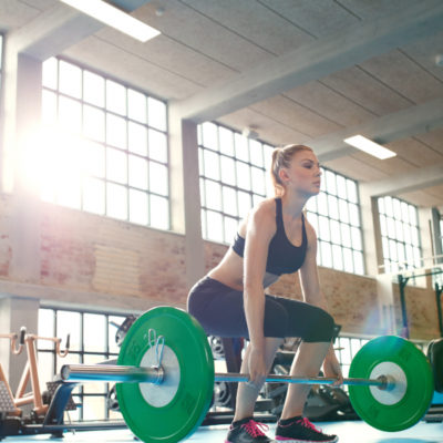 woman weightlifting stock image